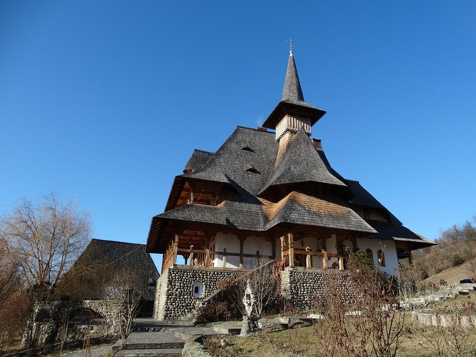 Monastery, Maramures, Sunny