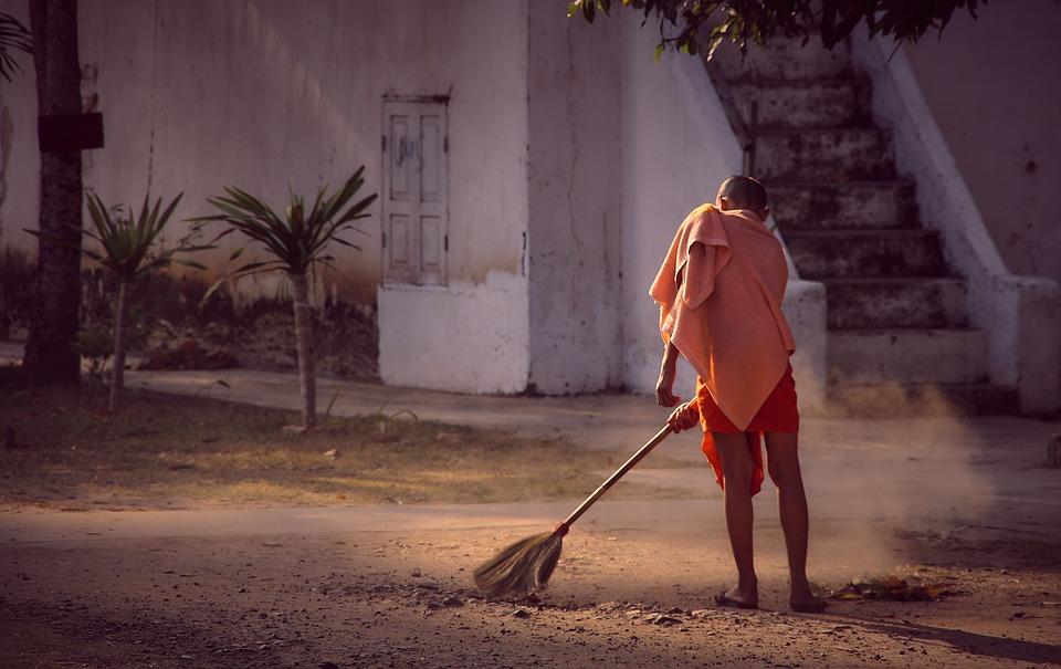 Periodic Week, Brush Up, Clean, Broom, Monk, Monastery