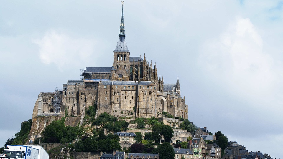 France, Mont Saint Michel, Island, Monastery, Gothic