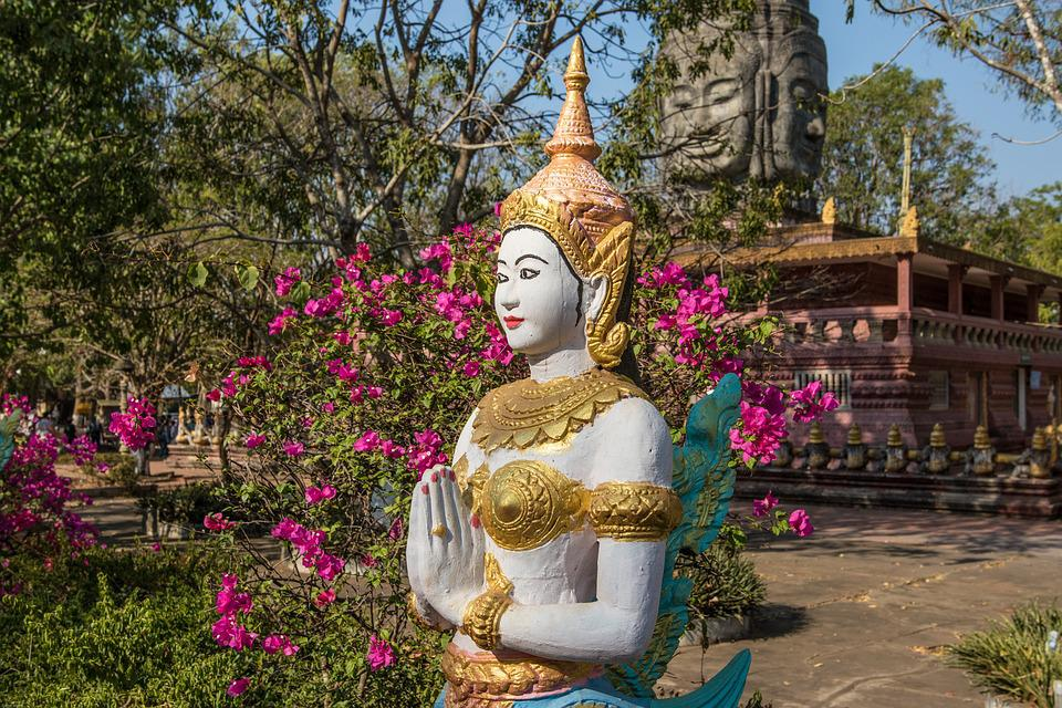Cambodia, Kampong Cham, Monastery, Buddhist, Religion