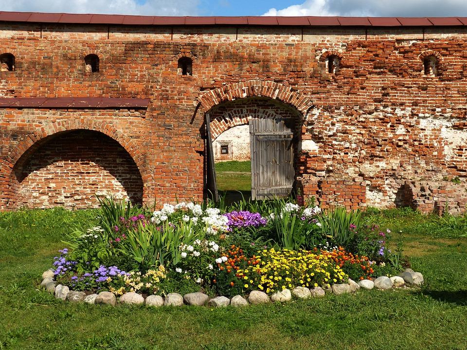 Goritsy, Wall, Monastery, Russia, Religion, Orthodox
