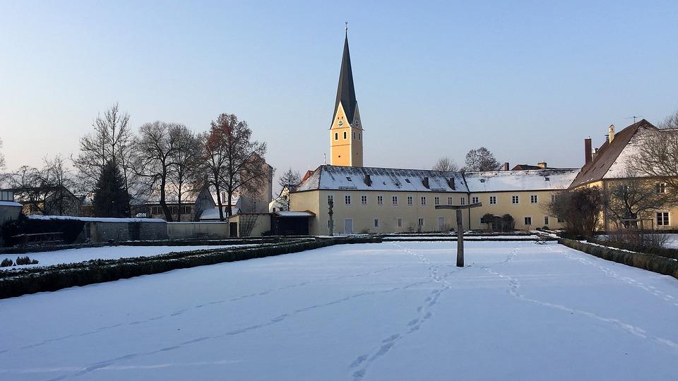 Winter, Snow, Travel, Architecture, Sky, Monastery