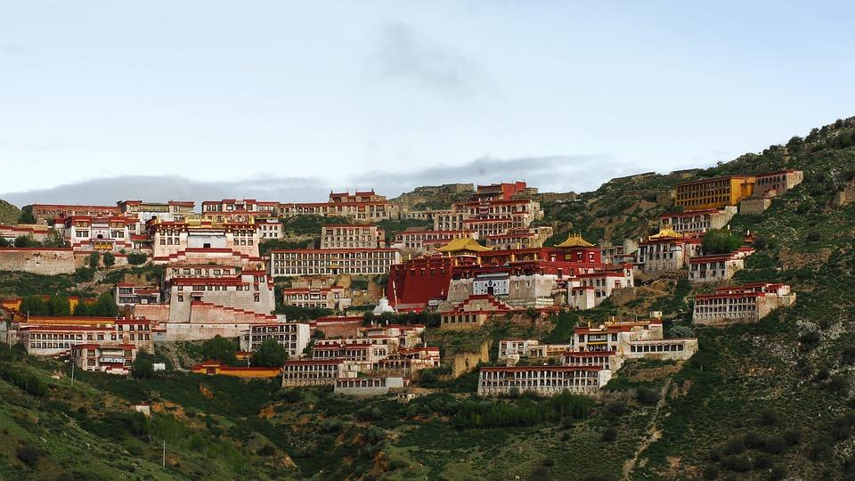 Tibet, Monastery, Ganden