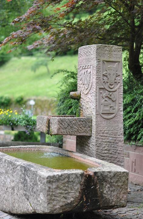 Fountain, Wittichen, Monastery, Water