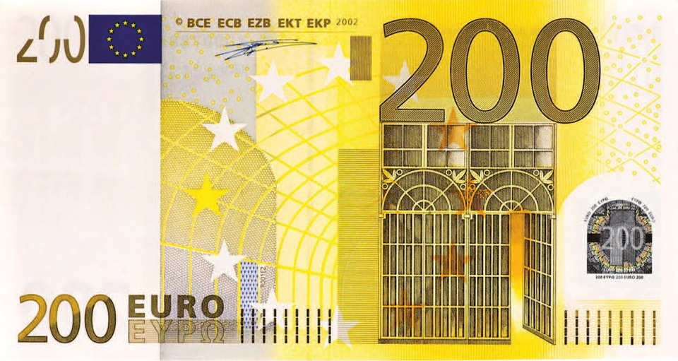 Dollar Bill, 200 Euro, Money, Banknote