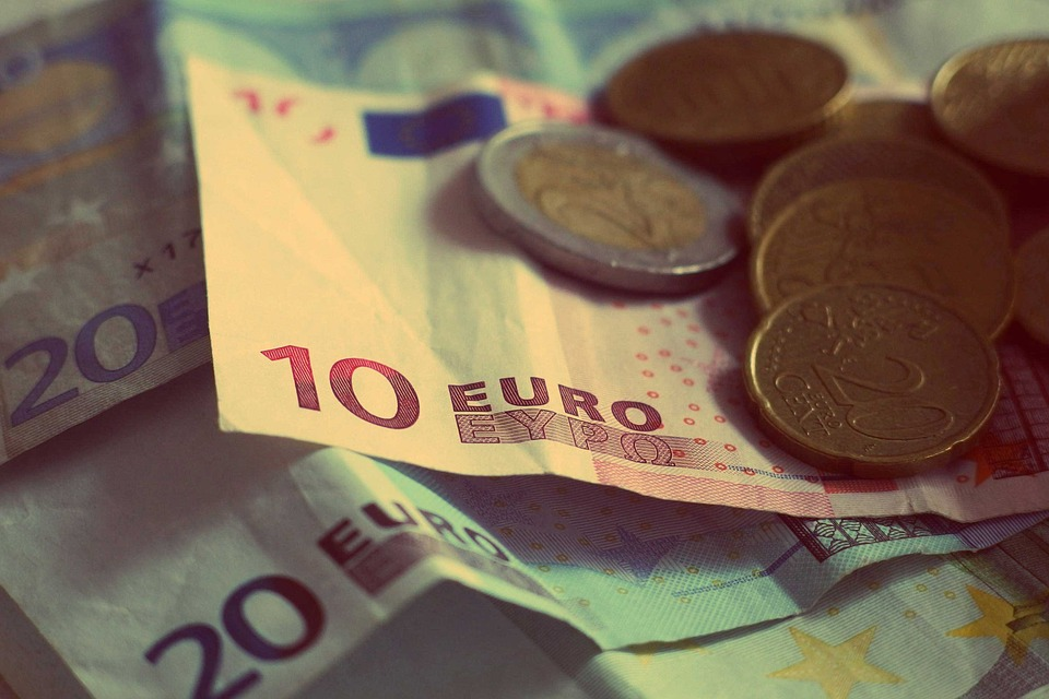Money, Euros, Banknotes, Bills, Coins, Currency, Change