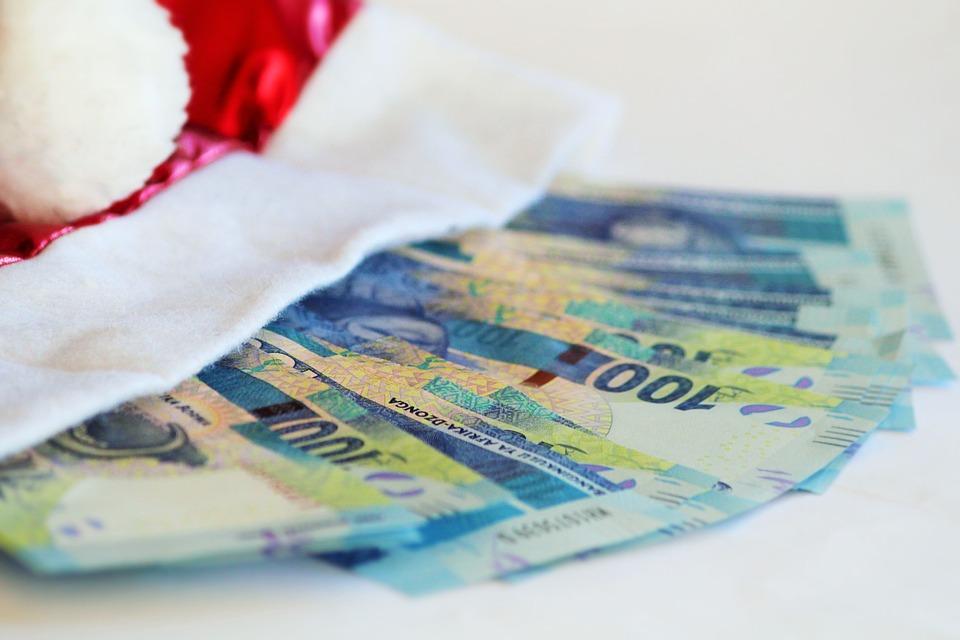 Christmas Money, Money, Billing, Gratuity, Santa Claus