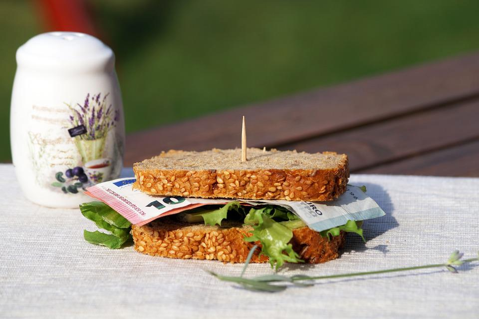 Euro, Sandwich, Money, Economy, Expensive, Food, Bread