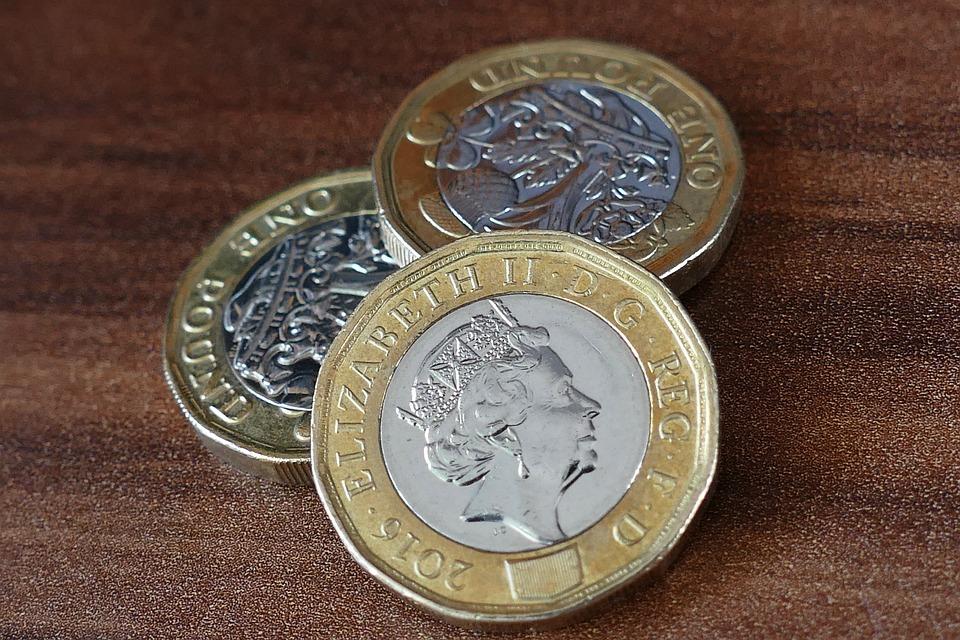 Pound Coin, British, New, Money, Finance, Pound