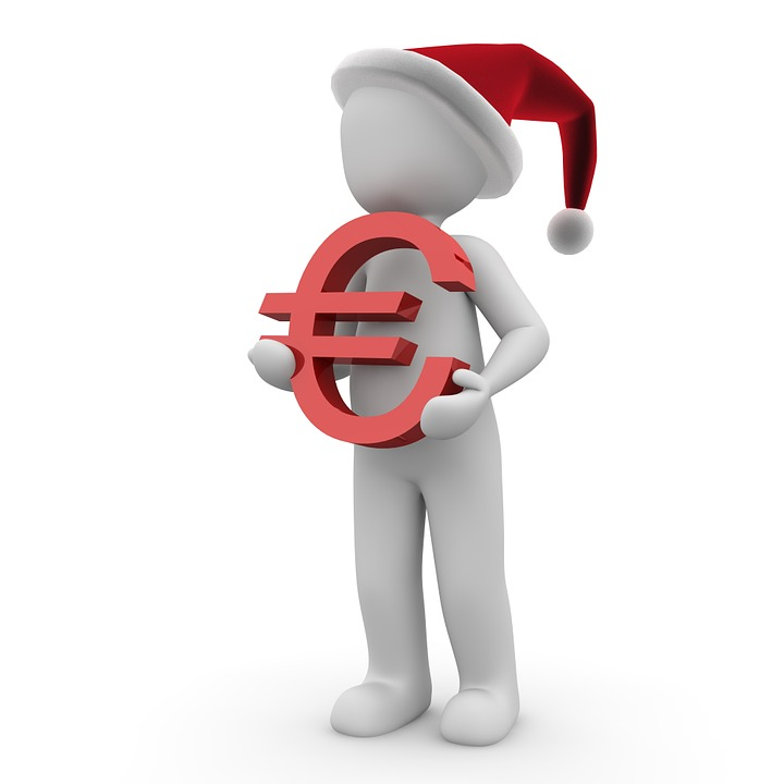 Euro, Money, Christmas, Gift, Dollar Bill, Currency