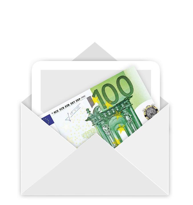 envelope money euro bill gift christmas e mail