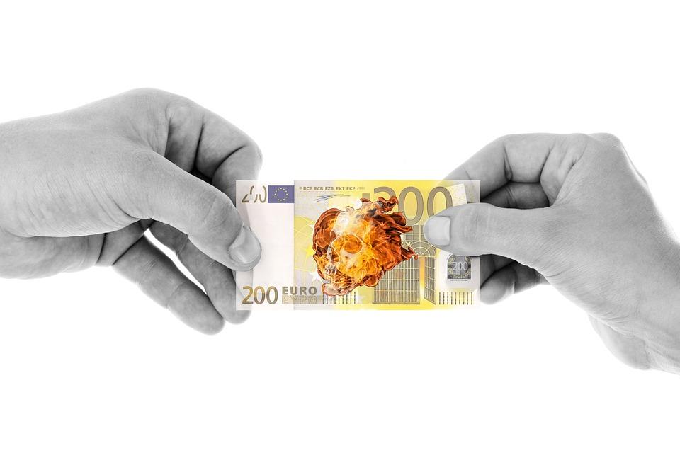 Money, Dollar Bill, Euro, Save, Burn, Death, Credit