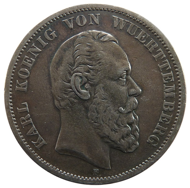 Mark, Württemberg, Karl, Coin, Money, Currency