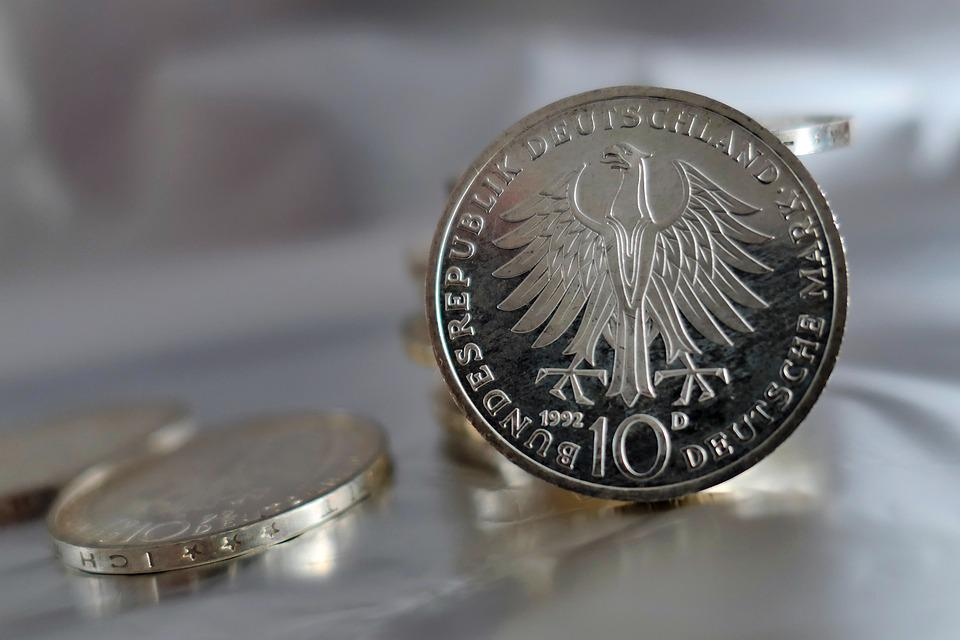 Coins, German Mark, Mark, Currency, Germany, Money