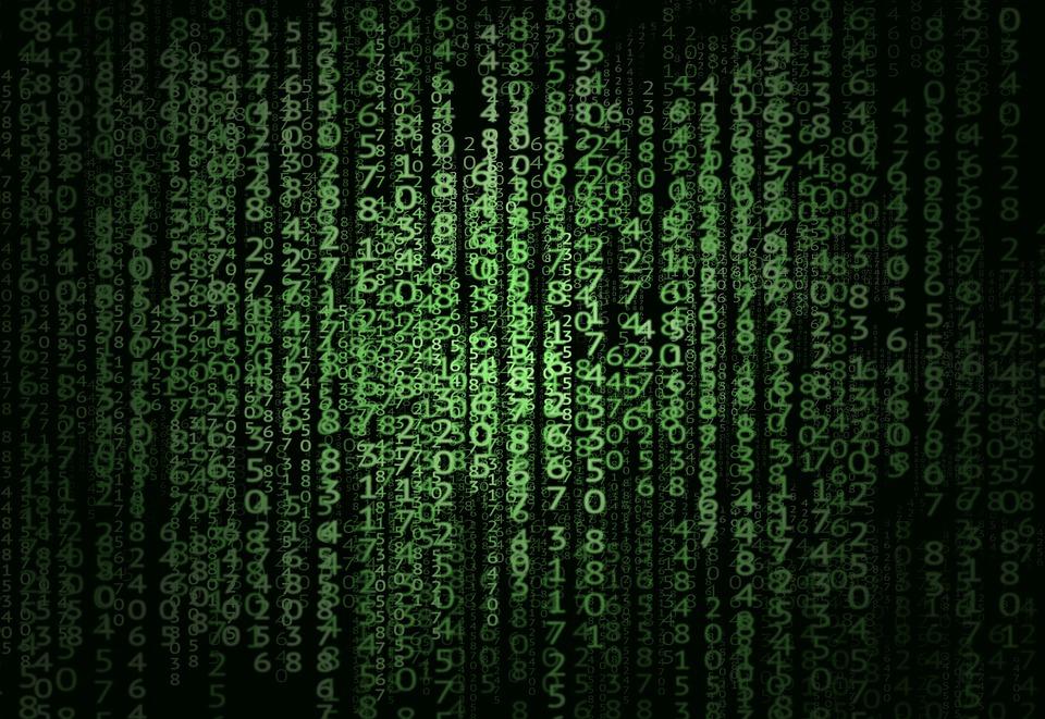 Matrix, Numbers, Cryptocoin, Cryptocurrency, Money