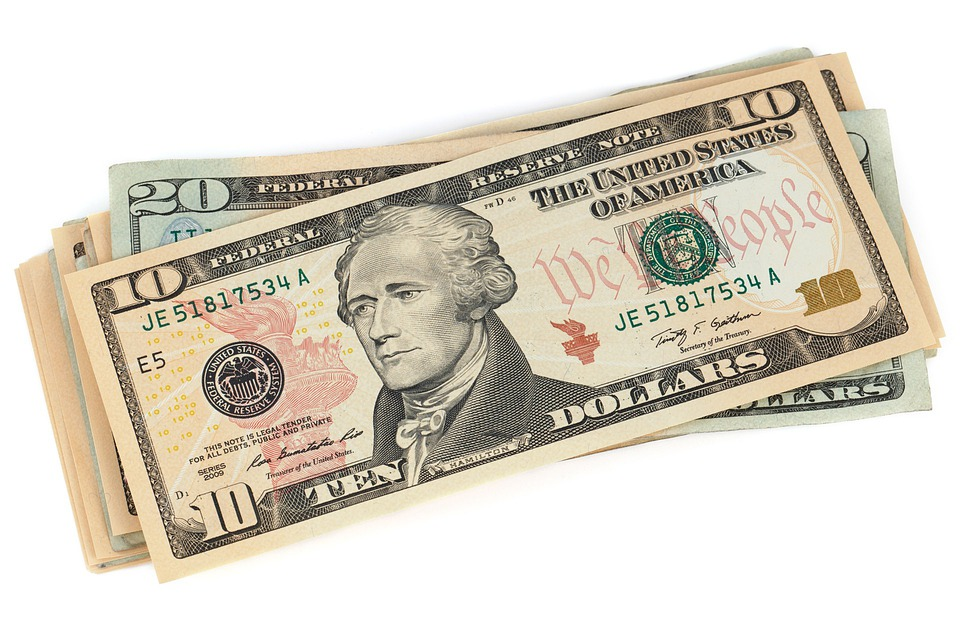 Money-One-White-Usa-Banknote-Business-Lo