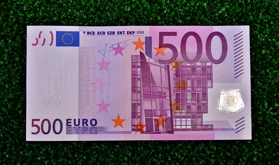 Euro 500 Dollar Bill Money Currency Paper