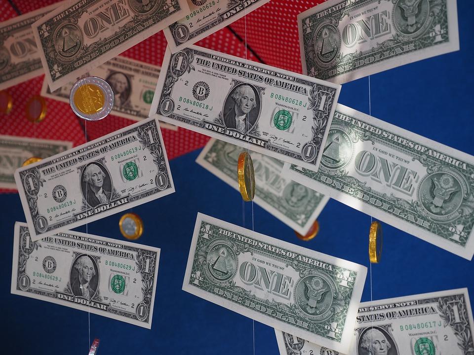 Money Rain, Gift, Dollar Rain, Gift Ideas, Coins, Seem