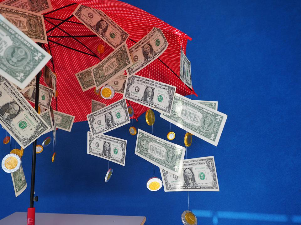 Gift, Money Rain, Dollar Rain, Umbrella, Gift Ideas