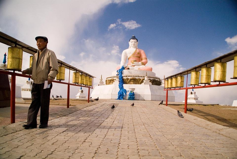 Mongolia, Buddhist, Temple, Buddha, Architecture