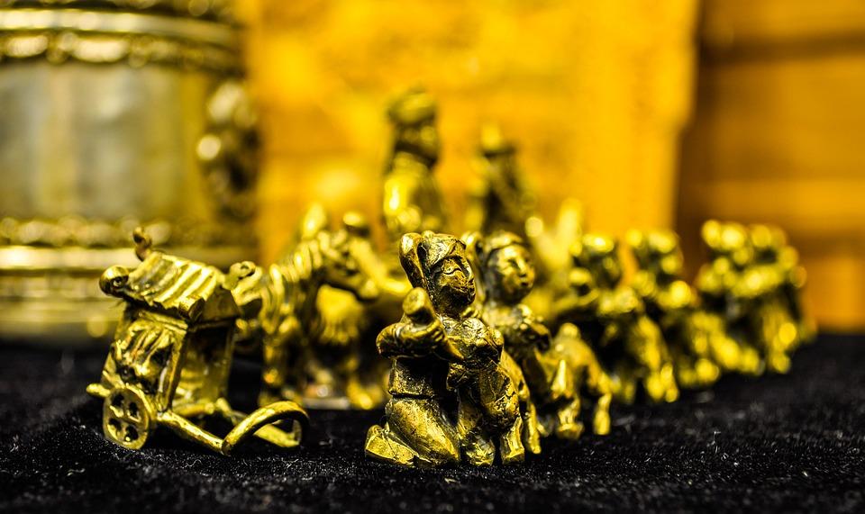 Antique, Chess, Old, Metal, Mongolian, Mongolia