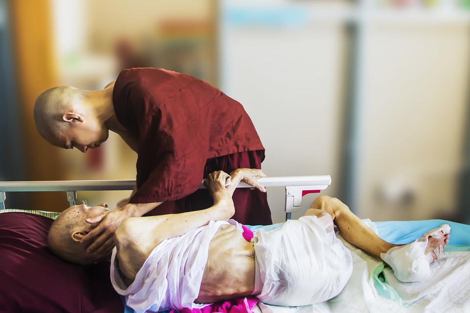Hospice, Monk And Patient, Theravada Buddhism, Caring