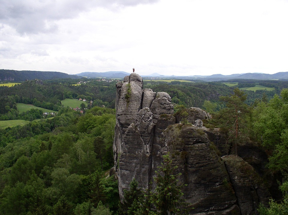 Monk, Rock, Monk Character, Elbe Sandstone Mountains