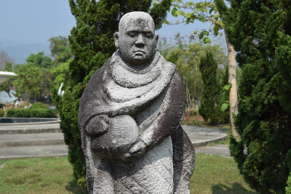 Monk, Sculpture, Rock, Chiang Mai Thailand, Thailand