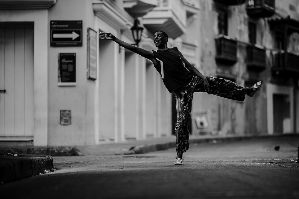 Man, Dance, Monochrome, Street, Dancing, Dancer