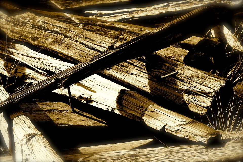 Wood Planks, Monochrome, Rural, Wood, Traditional