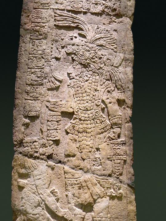 Mayan, Old, Monolith, Prehispanic, Culture, Mexican