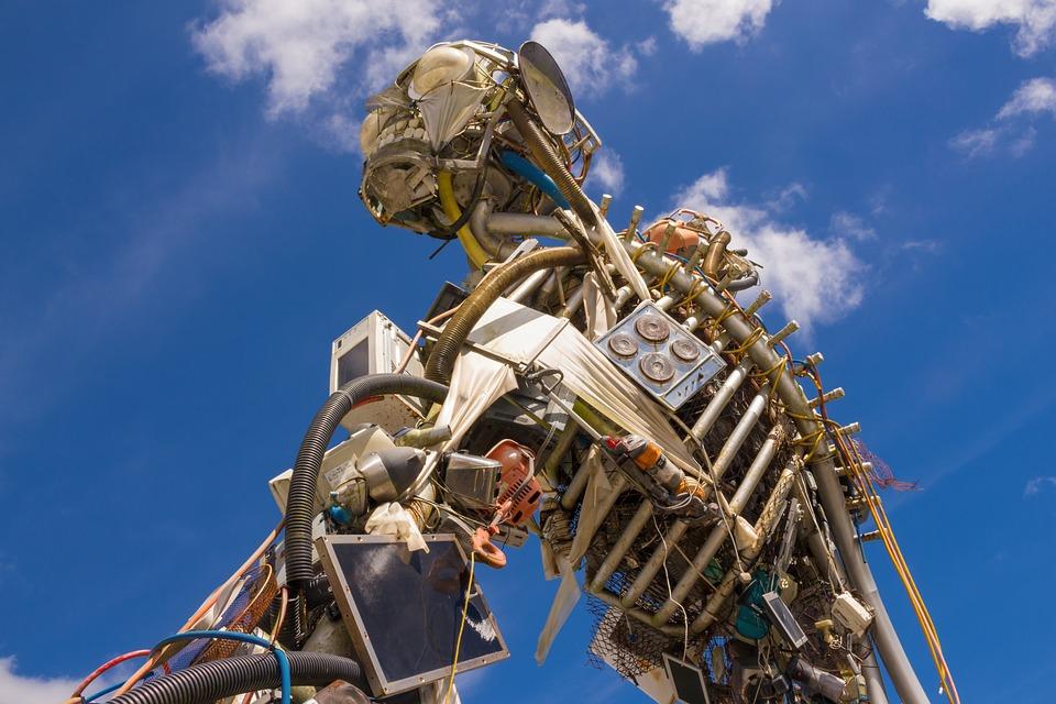 Sculpture, Garbage, Monster, Artwork, Pollution, Scrap