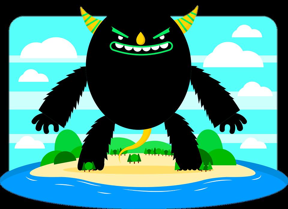Illustration, Monster, Chilling, Halloween, Hallowen
