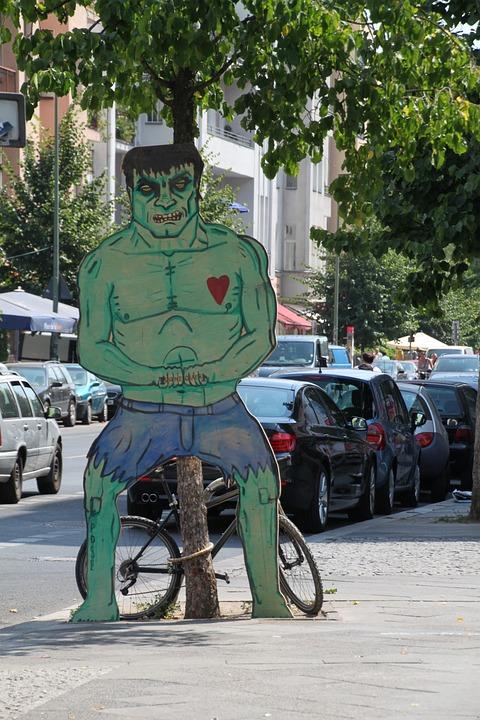 Hulk, Ugly, Fig, Sculpture, Monster, Creepy, Heart