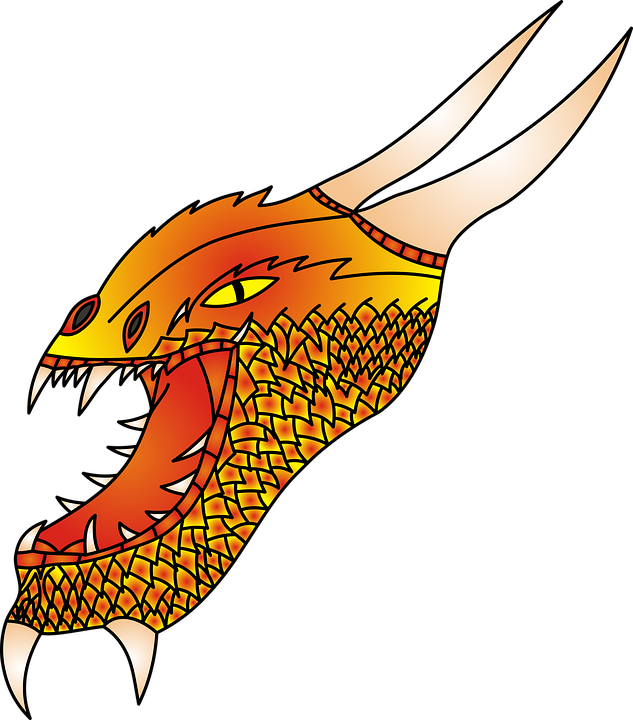 Dragon, No Background, The Head Of The, Monster