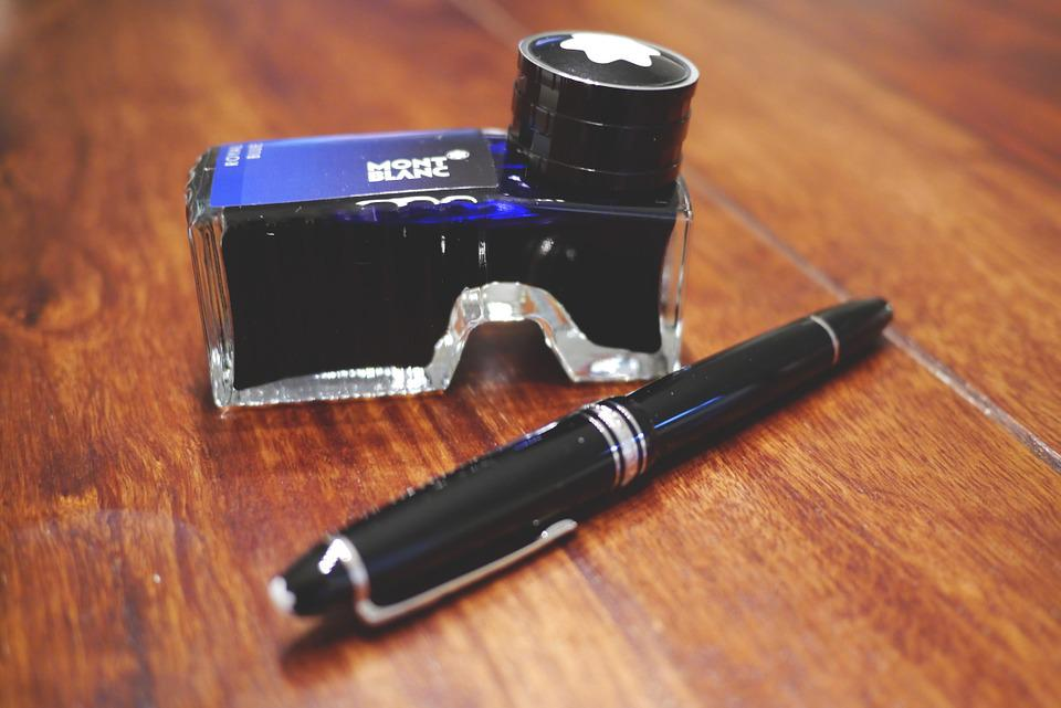 Fountain Pen Ink Mont Blanc Montblanc Writing Tool