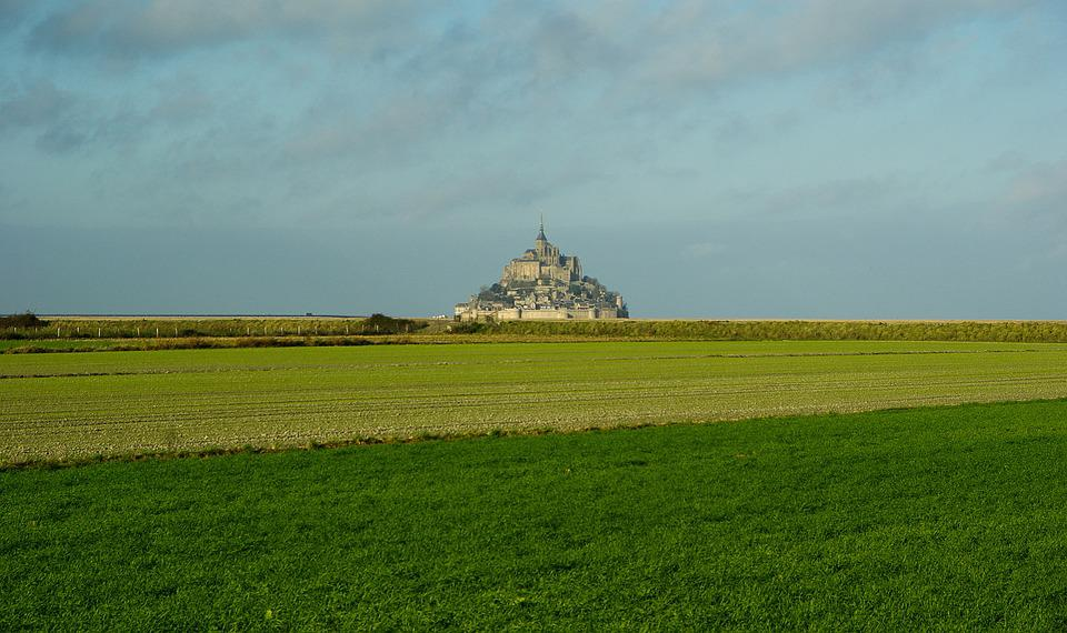 Normandy, Mont Saint Michel, Abbey