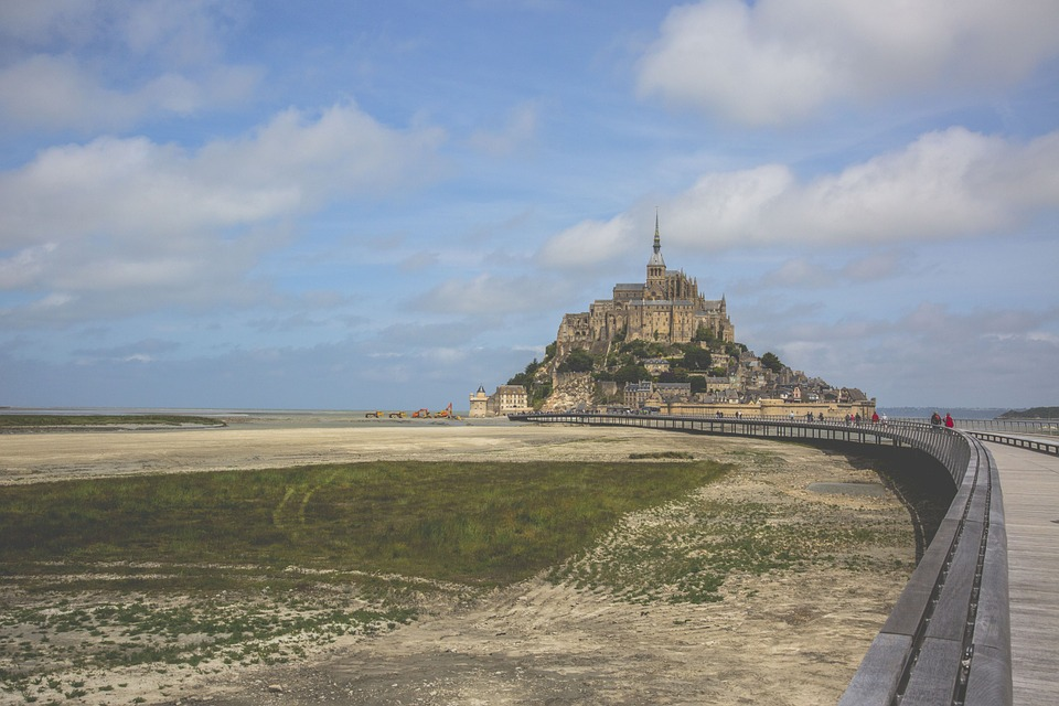 Mont Saint Michel, Bay, Promontory, France