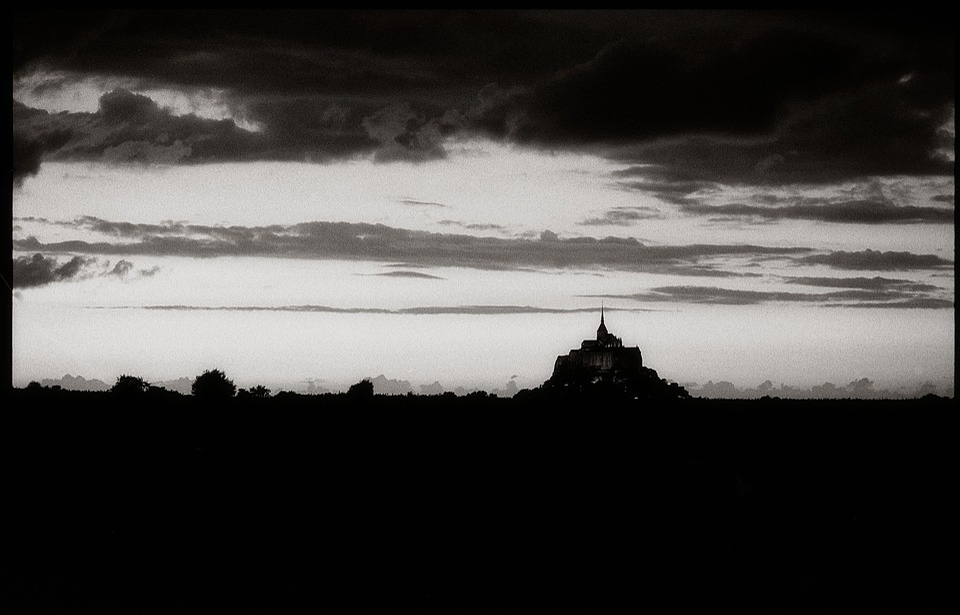 Mont, Saint, Michel, France, Mont St Michel, Monastery