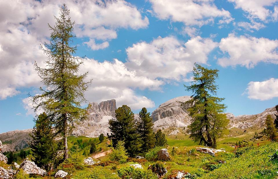 Monte Averau, Passo Falzarego, Mountains, Dolomites