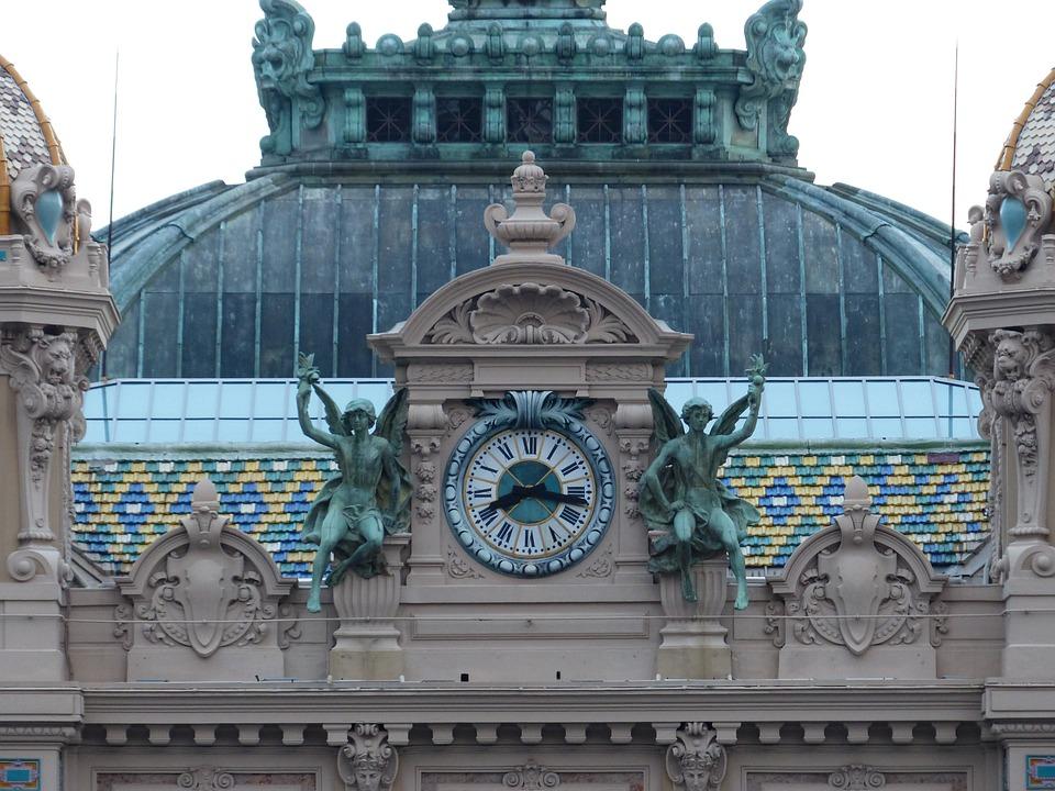 Game Bank, Casino, Clock, Figures, Monte Carlo
