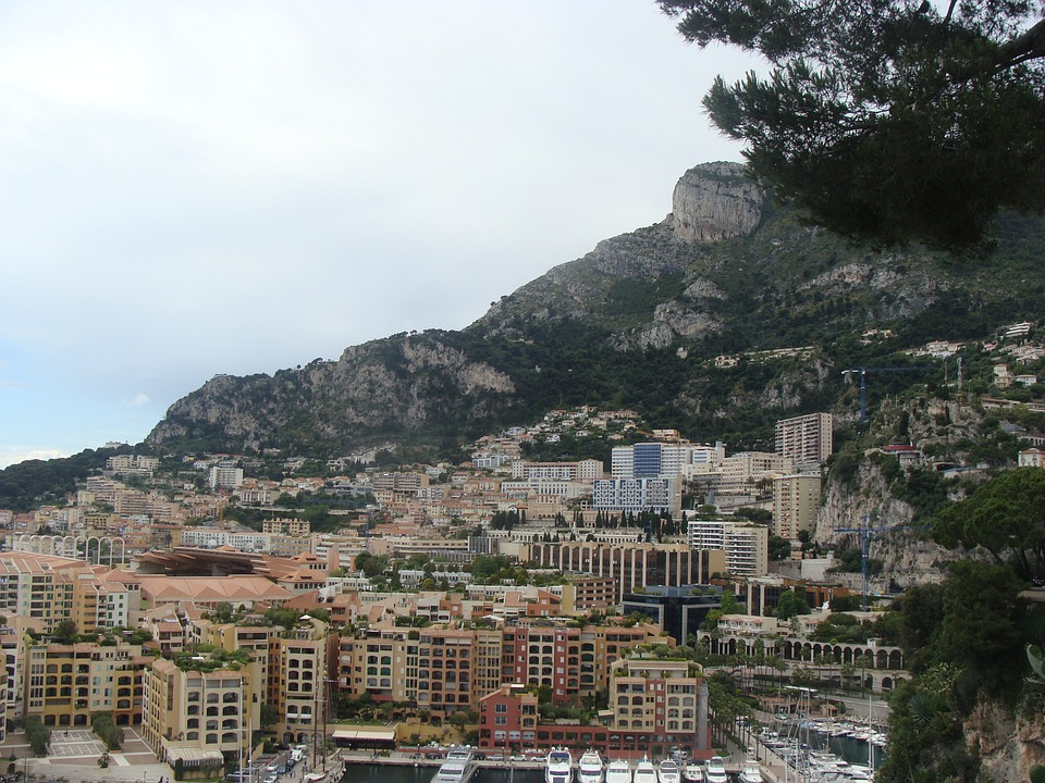 Mountain, City, Monte Carlo, Wood