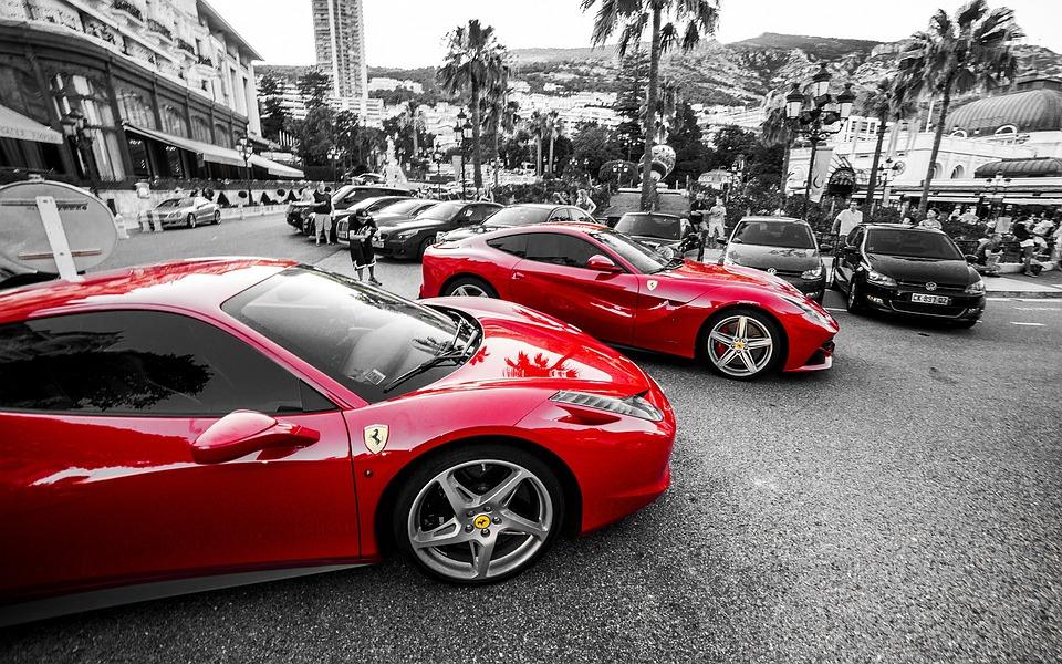 Ferrari, Monte Carlo, Auto, Sports Cars, Red