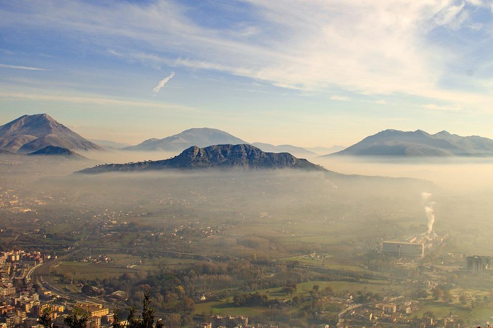 Abbey Montecassino, Montecassino, Fog, Mist, Landscape