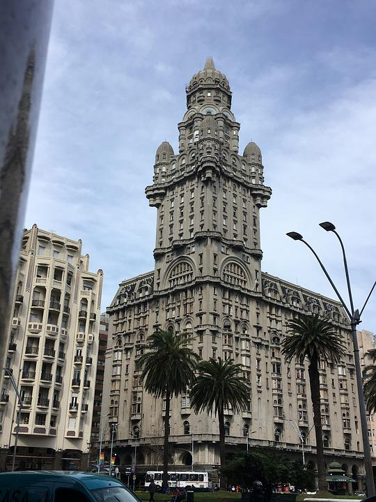 Palace, Montevideo, Uruguay, Architecture, Old, Facade