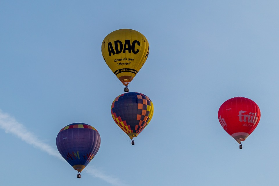 Hot Air Balloon, Montgolfiade, Mass Start