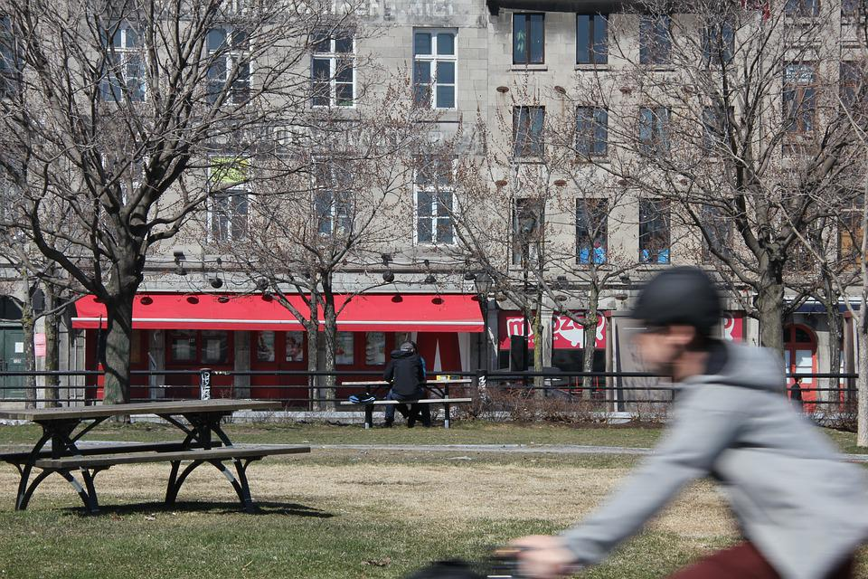 Old Port, Montreal, Spring, Park, City, People, Reat