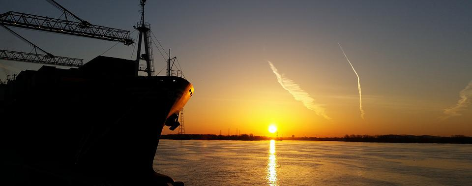 Sun, Boat, Port, Montréal, Termont