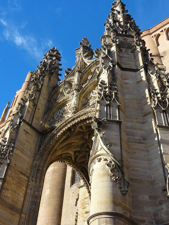Cathedral, Architecture, Monument, France, French, Albi