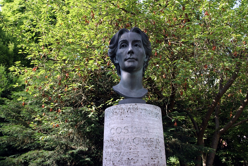 Bust, Cosima, Wagner, Park, Monument, Festival Hall